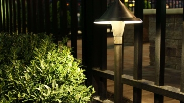 backyard mosquito control and lighting design